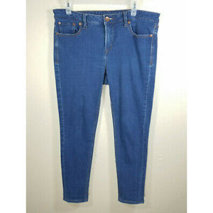 jcpenney Blue Skinny Cropped Ankle Jeggings Jeans
